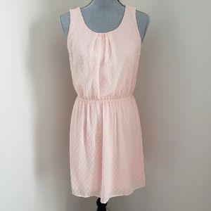 NWOT Elle Dress Pink polka dot cotton candy dress